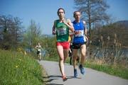 Yvonne Kägi aus Ebikon läuft zum Sieg. (Bild: Corinne Glanzmann / LZ (Ebikon, 8. April 2017))