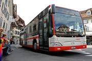 Ein Bus der Auto AG Schwyz in Küssnacht. (Archivbild Neue LZ)