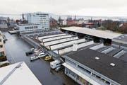 Der ZVB-Hauptstützpunkt soll an der Aa verbleiben. (Bild: Werner Schelbert (Zug, 21.Dezember 2015))