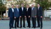 Der Gemeinderat von Risch (von links): Roland Zerr, Ruedi Knüsel, Peter Hausherr, Markus Scheidegger, Francesco Zoppi und Gemeindeschreiber Ivo Krummenacher. (Bild: PD)