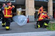 Das Feuer wurde durch einen Atemschutztrupp mit einem Kohlensäure-Feuerlöscher gelöscht. (Bild Freiwillige Feuerwehr Zug)
