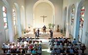 Das Moraguès-Quintett wusste das Publikum in der Kapelle Maria vom Berg in Menzingen zu begeistern. (Bild: Maria Schmid (16. Juli 2017))