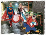 Die Superhelden Gobbi und Pantani kämpfen gegen Tunichtgute. (Bild: Ausriss der Titelseite des «Mattino della domenica» vom 9. April 2017)