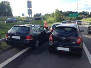 Auffahrunfall auf der Autobahn A4a. (Bild: Zuger Polizei)
