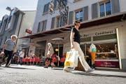 Das Café/Konditorei Heini an der Hertensteinstrasse: Die Lokalität ist heiss begehrt. (Bild Eveline Beerkircher)