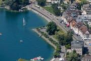 Das Fahren mit dem Velo entlang der Seeanlagen ist verboten. (Archivbild Stefan Kaiser)