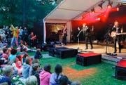 Im letzten Jahr haben in der Badi Hünenberg mehrere Anlässe stattgefunden – unter anderem das Konzert von Marc Sway im August. (Archivbild Stefan Kaiser)