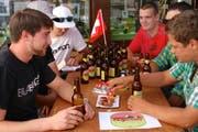 Das neue Bier wurde am 1. August in Engelberg lanciert. (Bild: PD)