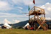 Wachturm im Lager der Jubla Escholzmatt (Bild: Ramona Geiger)