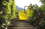 Der Seeuferweg Kehrsiten-Untermatt ist derzeit gesperrt. (Bild: Archiv Corinne Glanzmann / Neue NZ)