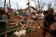 Die Stadt Luzern spendet 30'000 Franken an das vom Wirbelsturm zerstörte Haiti. (Bild: Keystone)