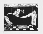 «Le Bain» (1894) von Félix Vallotton. Der Holzschnitt gehört zur Schenkung aus der Sammlung Engelhorn ans Kunstmuseum. (Bild Kunstmuseum Luzern)