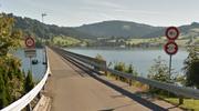 Das Willerzellerviadukt führt quer über den Sihlsee. (Bild: Google Street View)
