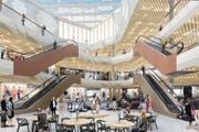Blick ins Herz der neuen Mall of Switzerland. (Bild: Visualisierung: PD)