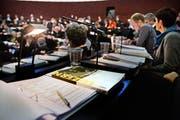 Budgetdebatte im Kantonsratsaal des Regierungsgebäudes. (Bild: Nadia Schärli / Neue LZ)