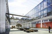 So wird der Medtech-Park im Küssnachter Industriegebiet Fänn einmal aussehen. (Bild: PD)