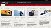 So sieht die Startseite der Website easyfind.ch aus. Zukünftig sollen in Luzern verlorene Gegenstände dort erfasst und gesucht werden. (Bild: Printscreen esyfind.ch)