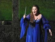 Über alle Kritik erhaben ist nur ihre Stimme: Anna Netrebko als «Iolanta». (Bild: EPA/Barbara Gindl)