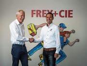 Patrick Sommer (rechts) übernimmt von Beat Möckli per 1. August 2019 die Firmenleitung. (Bild: Roger Grütter (Kriens, 28. September 2017))