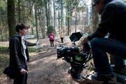 «Klappe, die erste.» Impression von den Dreharbeiten auf dem Sonnenberg. (Bild: PD)