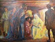 Der Dreikönigstag am 6. Januar gilt für manche Gläubige auch als «Hochneujahr». Gemälde «Die Anbetung der Könige» von David Burnand im ref. Kirchenzentrum in Zug. (Bild: Andreas Faessler (26. September 2016))