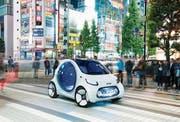 Allein durch Tokio: der autonom fahrende Smart EQ. (Bild: Thomas Geiger)