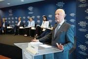 Gründer Klaus Schwab stellte gestern das WEF-Programm vor. (Bild: Laurent Gilliéron/Keystone (Cologny, 16. Januar 2018))
