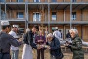 Eröffnung des Asylzentrums Grosshof. (Bild: Nadia Schärli, Kriens, 24. November 2017)