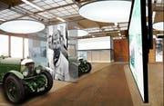 So soll die Montagehalle vom Gotthard Motorpark aussehen. (Bild: Visualisierung PD)