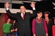 Der Dallenwiler Dachdecker Klaus und Beatrice Odermatt sind das neue Frohsinnpaar. (Bild: Richard Greuter / Neue NZ)