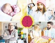 Das menschliche Hirn verändert sich ständig und lernt dazu. Teenager etwa sind risikofreudig, weil ihre Impulskontrolle noch nicht voll entwickelt ist. Hirnareale, die nicht mehr gebraucht werden, bauen sich ab. Und Frauenhirne funktionieren anders als Männerhirne. (Bilder: Getty)