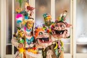 Das «Team Scheidegger» gewinnt in der Kategorie der Kleingruppen mit ihrem Sujet «Hawaiianische Wildsäue». (Bild: Dominik Wunderli / LZ (Luzern, 13. Februar 2018))