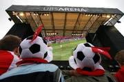 So eine Arena der UBS wie zur Euro 2008 wird es in Zug bei der WM 2010 nicht mehr geben. (Archivbild Christof Borner-Keller/Neue ZZ)