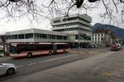 Hauptsitz der Schwyzer Kantonalbank in Schwyz. (Bild: Keystone)