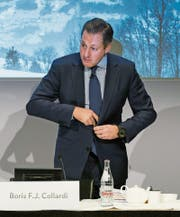 Julius-Bär-Chef Boris Collardi ist per sofort zurückgetreten. (Bild: Ennio Leanza/Keystone (Zürich, 1. Februar 2016))