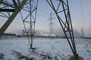 Streitobjekt: Strommasten im Altdorfer Eyschachen. (Bild: Archiv Neue UZ)