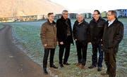 Von links: Conrad Wagner, Karl Tschopp, René Jacomet, Erich Amstutz und Hanspeter Escher von der IG Stans. (Bild: Oliver Mattmann / Neue NZ)