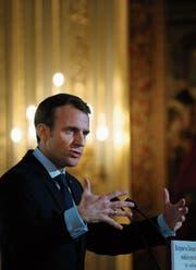 Sieht sich bestätigt: Emmanuel Macron. (Bild: Yoan Valat/EPA (Paris, 26. März 2018))