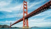 Die berühmte Golden Gate Bridge vor den Toren San Franciscos. (Bild: Eric Risberg/AP (15. November 2006))