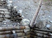 Die Bachverbauung; hier allerdings mit sehr wenig Wasser. (Bild Beat Christen/Neue OZ)