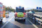 Die Unfallstelle bei Rotkreuz. (Bild Zuger Polizei)
