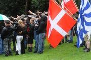 Die Pnos bei einer Feier auf dem Rütli im Jahr 2009. (Bild: Neue LZ (Archiv))