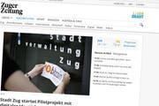 zugerzeitung.ch war vorübergehend nicht erreichbar. (Bild: Screenshot: zugerzeitung.ch)