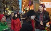 Der Stand der Tibeter am Donnerstag eröffneten «Venite». (Bild: Eveline Beerkircher (Luzern, 15. Dezember 2016))