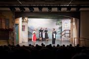 Vorstellung eines Theaterstücks im Hotel Port im Entlebuch. (Bild: Dominik Wunderli)