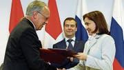 Nach 2011 reist Johann Schneider-Ammann erneut nach Moskau. (Bild: KEY)