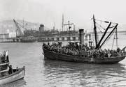 Eines der rund 1000 Schiffe, darunter viele nichtmilitärische wie dieses, die 1940 bei der Evakuierung aus Dünkirchen beteiligt waren. (Bild: Keystone)