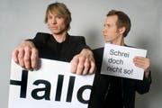 Das Duo «Ohne Rolf» mit Christof Wolfisberg, links, und Jonas Anderhub. (Bild: pd)