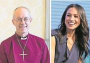 James Welby, Erzbischof von Canterbury (62) und Schauspielerin Meghan Markle (36). (Bilder: EPA)