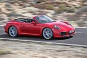 Ein gediegener Sportwagen mit hoher Alltagstauglichkeit: der neue Porsche 911 Carrera, hier in der Cabriolet-Version.Bilder Werk (Bild Werk)